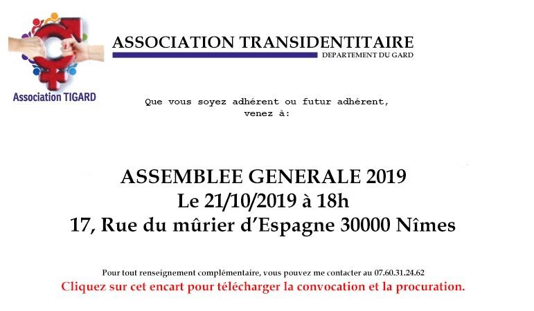 Assemblée générale 2019 cliquez pour télécharger la convocation et procuration